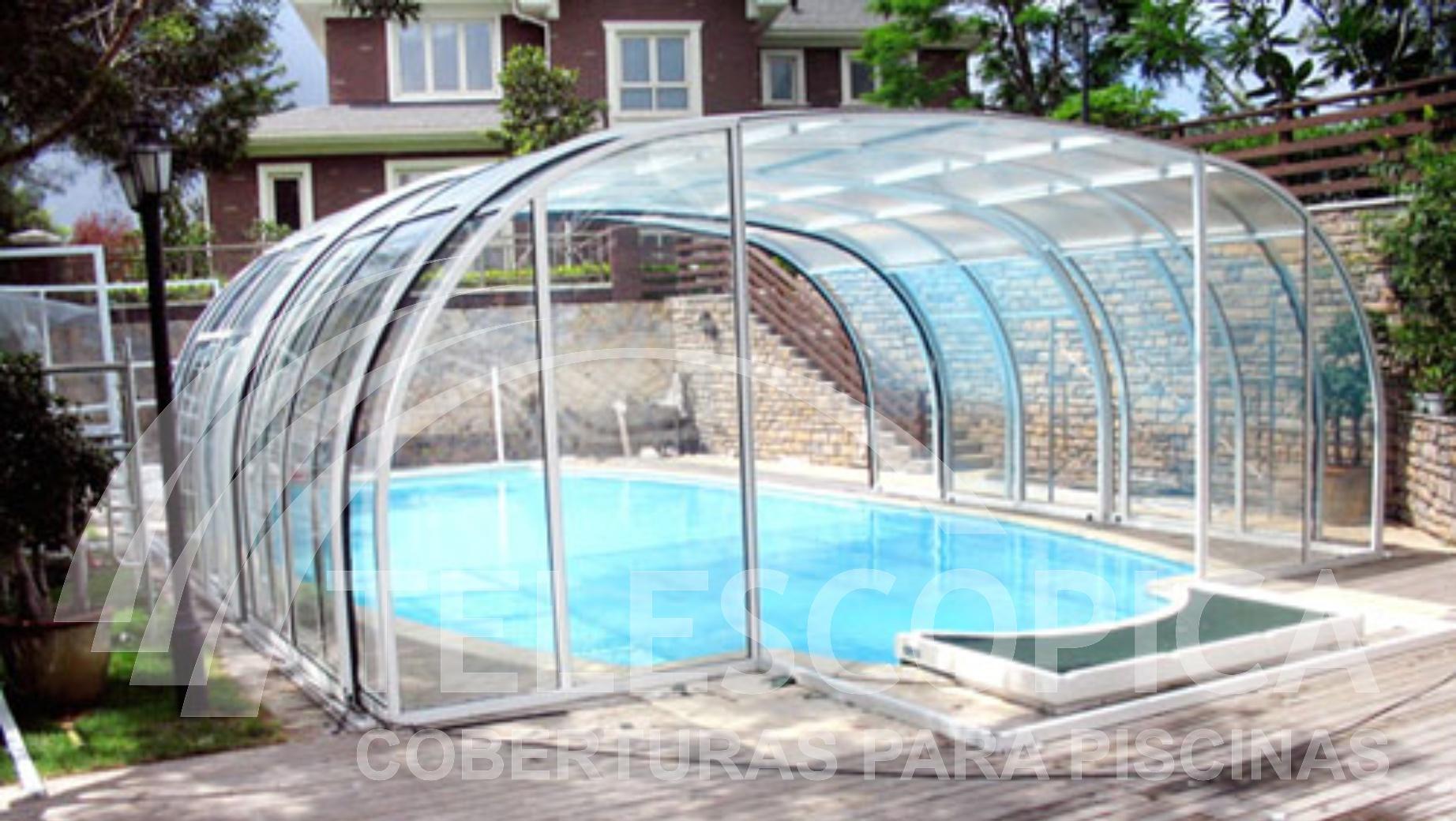Cobertura piscina for Coberturas para piscinas